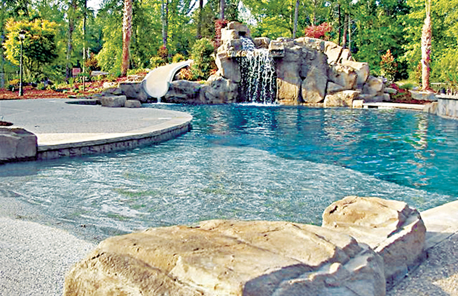 ZeroBeach Entries Blue Haven Custom Swimming Pool And