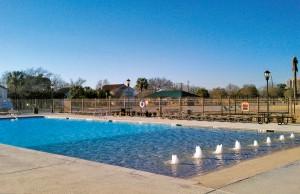 Large Zero beach entry swimming pool