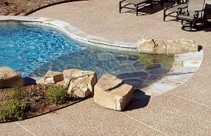 Zero beach entry swimming pool