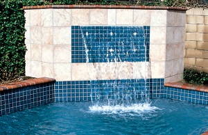 Cascade waterfall feature by Blue Haven Pools