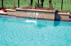 Cascade waterfall pool feature