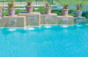 cascade waterfall pool photos blue haven pools. Black Bedroom Furniture Sets. Home Design Ideas
