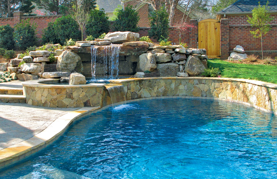 Gallery blue haven custom swimming pool and spa builders for Pool and spa show charlotte nc