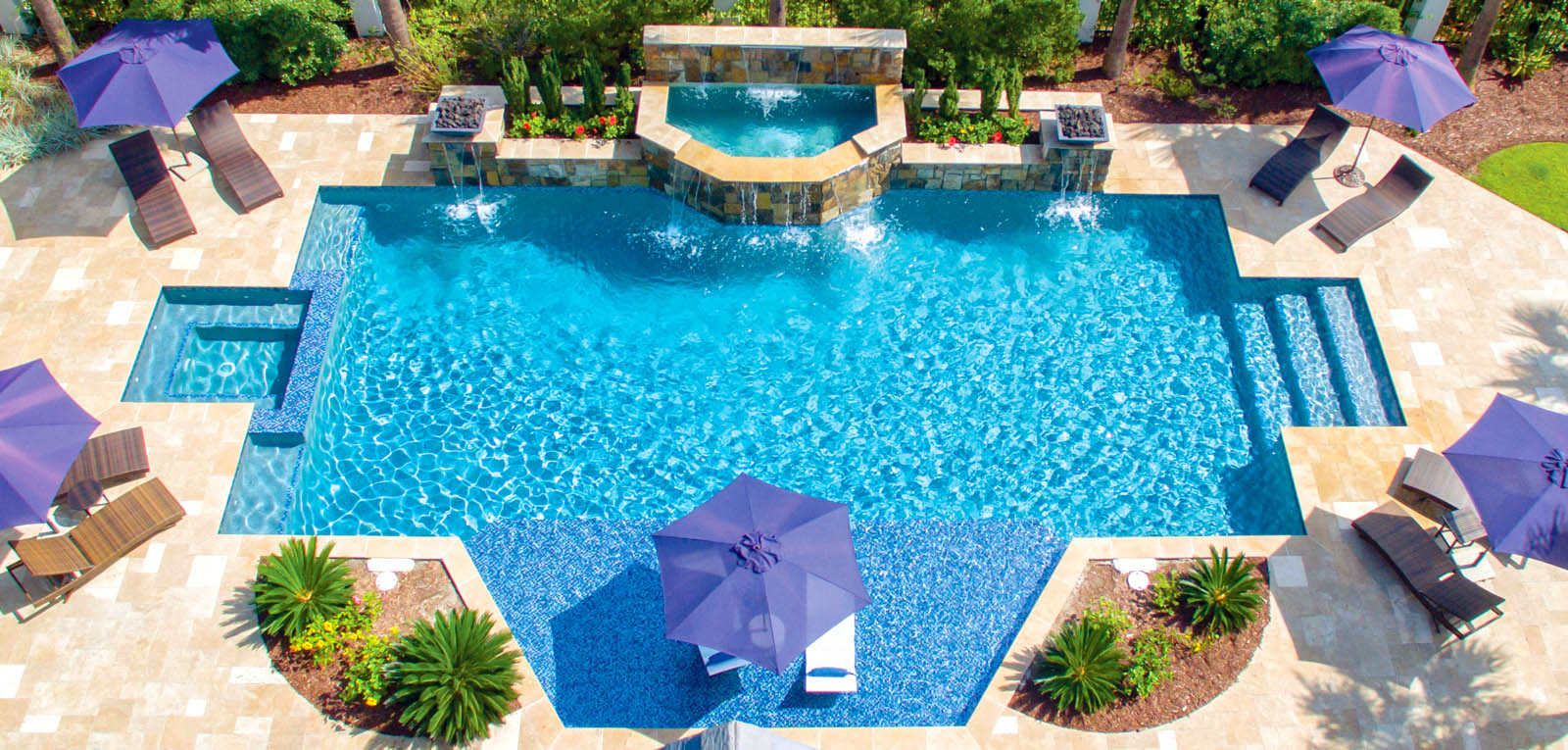 Geometric Pool And Spa Designs Photos Blue Haven