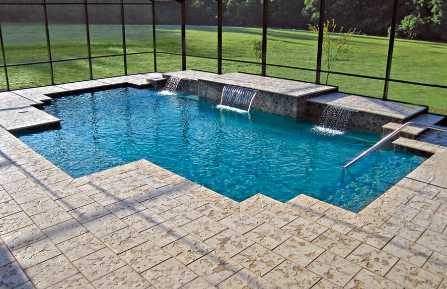 Geometric Pool And Spa Designs Photos