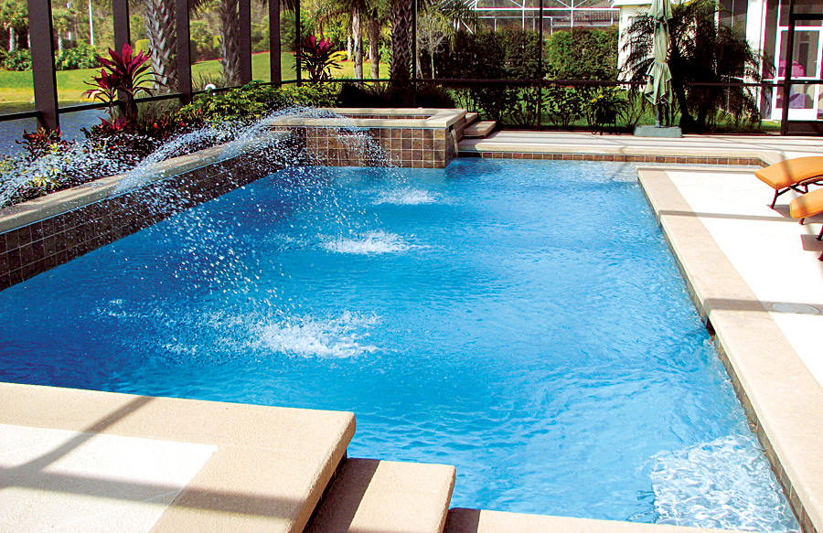 Geometric pools blue haven custom swimming pool and spa for Pool and spa builders