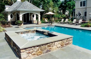 Geometric gunite spa