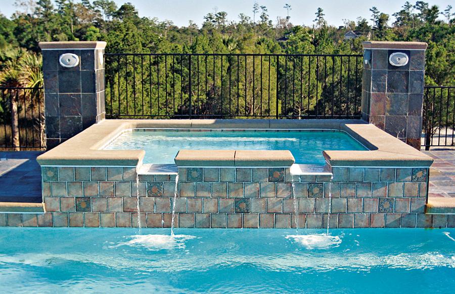 Gunite spas blue haven custom swimming pool and spa builders for Spa builders