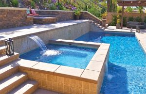 San Diego Swimming pool and square spa