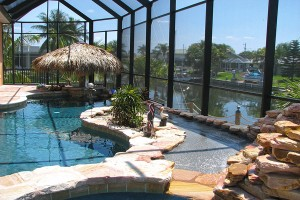 lagoon style inground pool in Naples, Fl