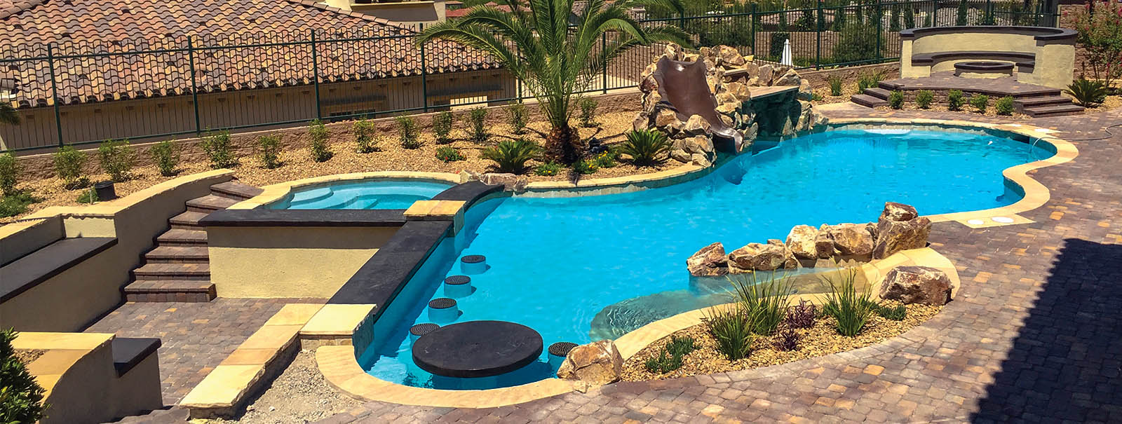 Las vegas custom swimming pool builders blue haven pools for Inground swimming pool companies