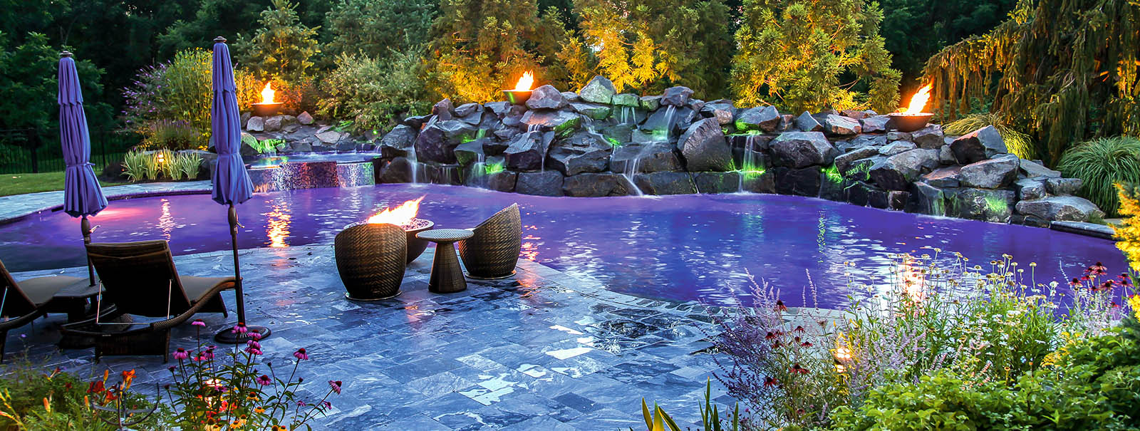Morganville new jersey custom swimming pool builders blue - Inground swimming pools new jersey ...