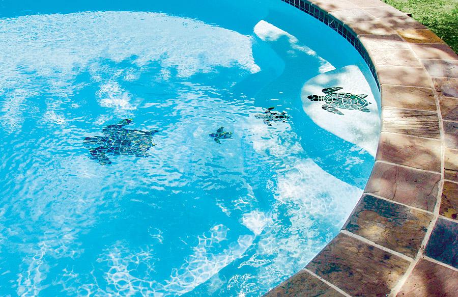 Pool Mosaics Blue Haven Custom Swimming Pool And Spa