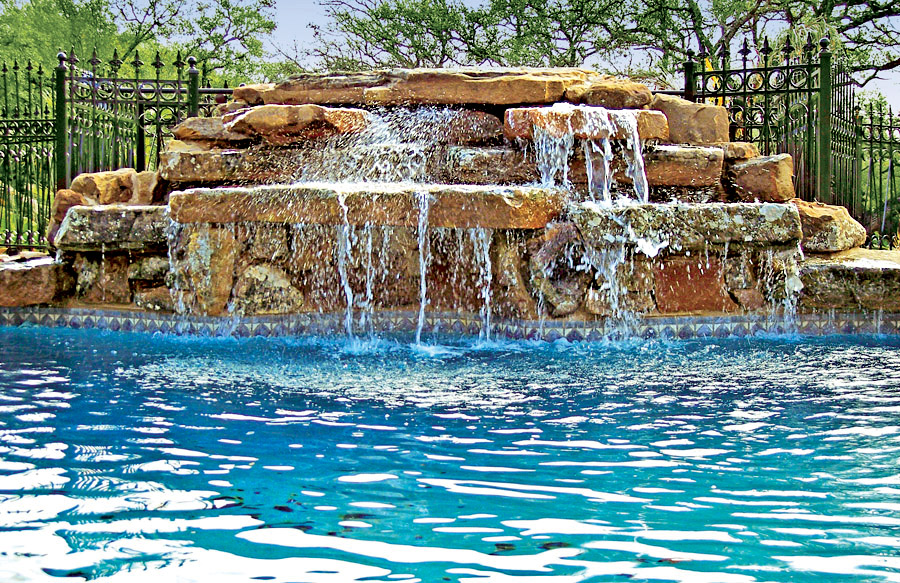 Rock Waterfall Pool Photos Blue Haven Pools