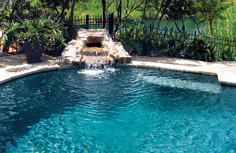 rock waterfalls blue haven custom swimming pool and spa builders - Cool Pools With Waterfalls And Slides