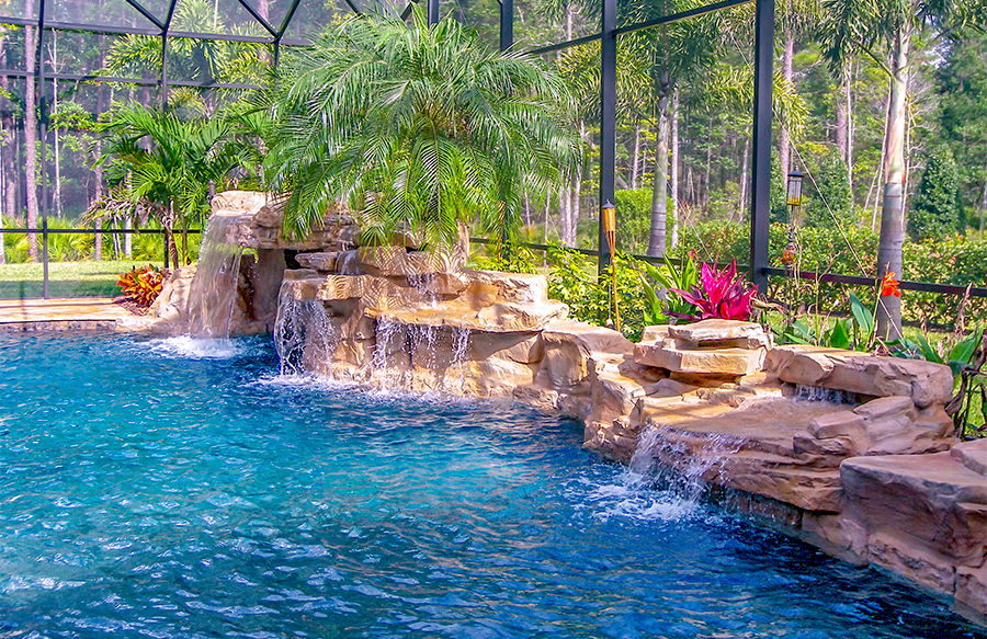 inground pools with waterfalls swimming pool rock waterfall pictures blue 6691