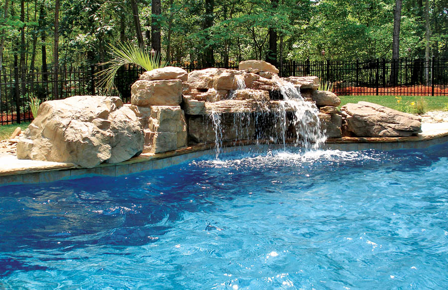 inground pools with waterfalls swimming pool rock waterfall pictures blue 9146