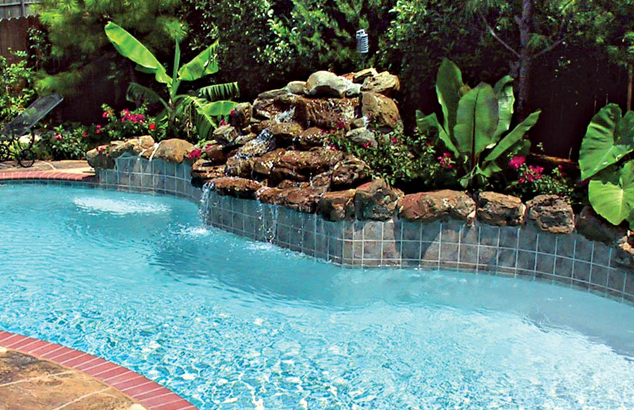inground pools with waterfalls swimming pool rock waterfall pictures blue 7570