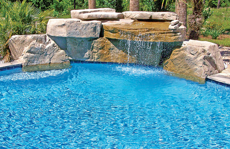 inground pools with waterfalls swimming pool rock waterfall pictures blue 8962