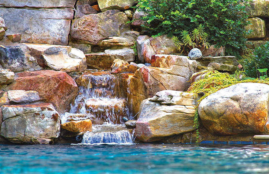 inground pools with waterfalls swimming pool rock waterfall pictures blue 2927