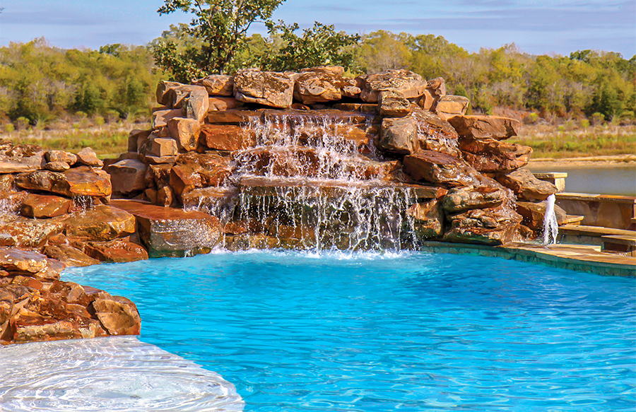 inground pools with waterfalls swimming pool rock waterfall pictures blue 1460