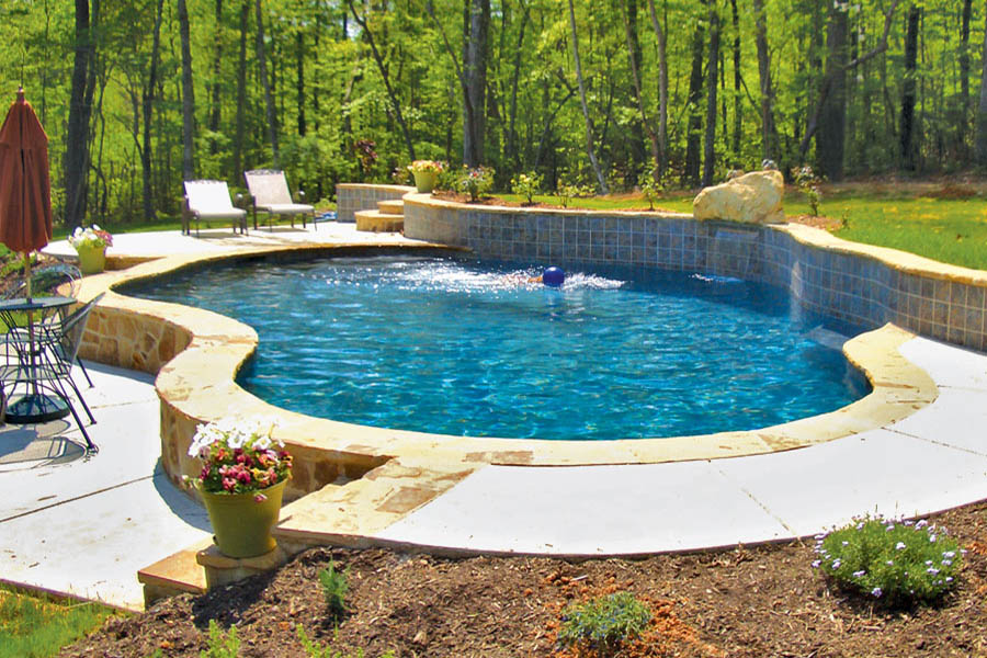 Gallery blue haven custom swimming pool and spa builders for Pool design raleigh nc