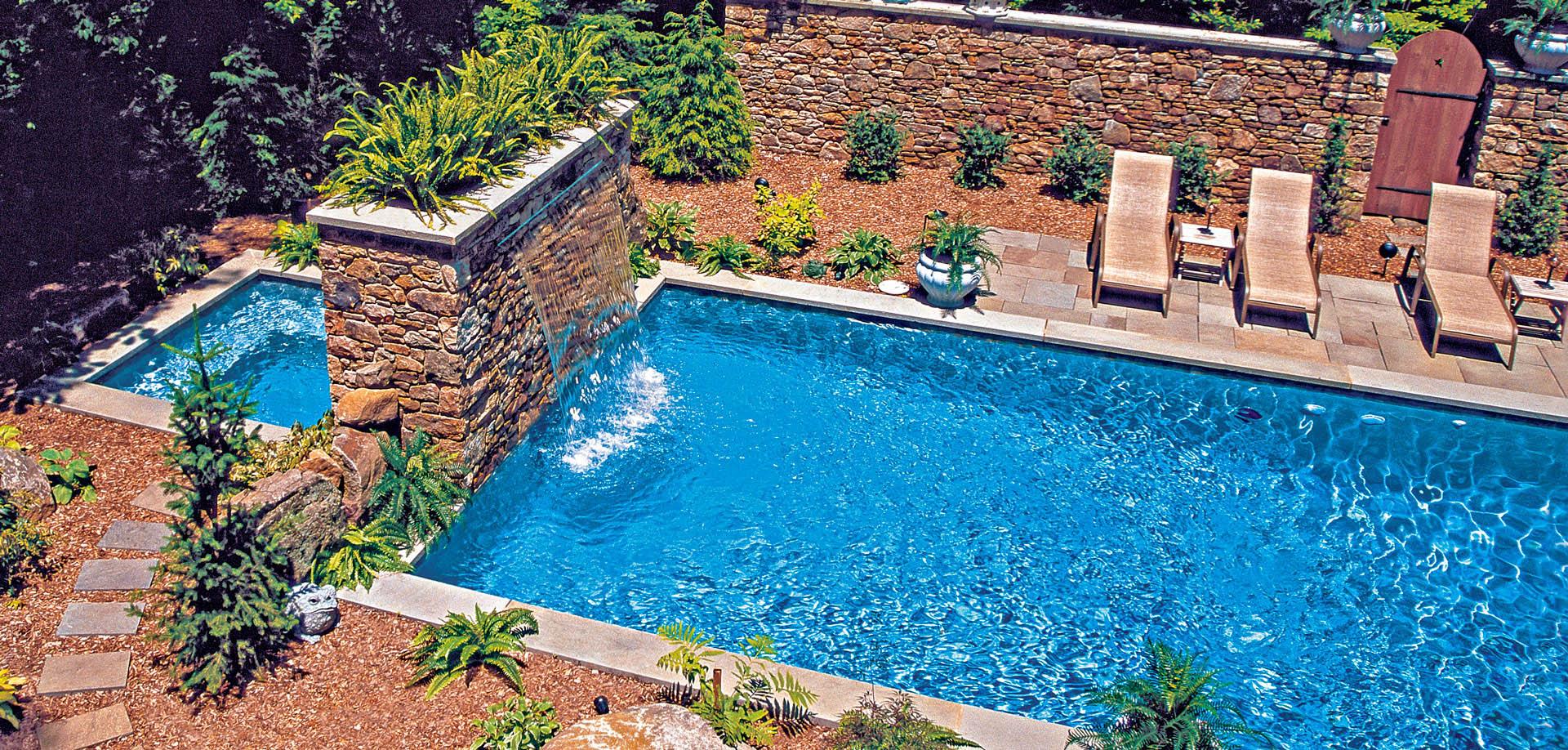 Rectangle inground pool & spa