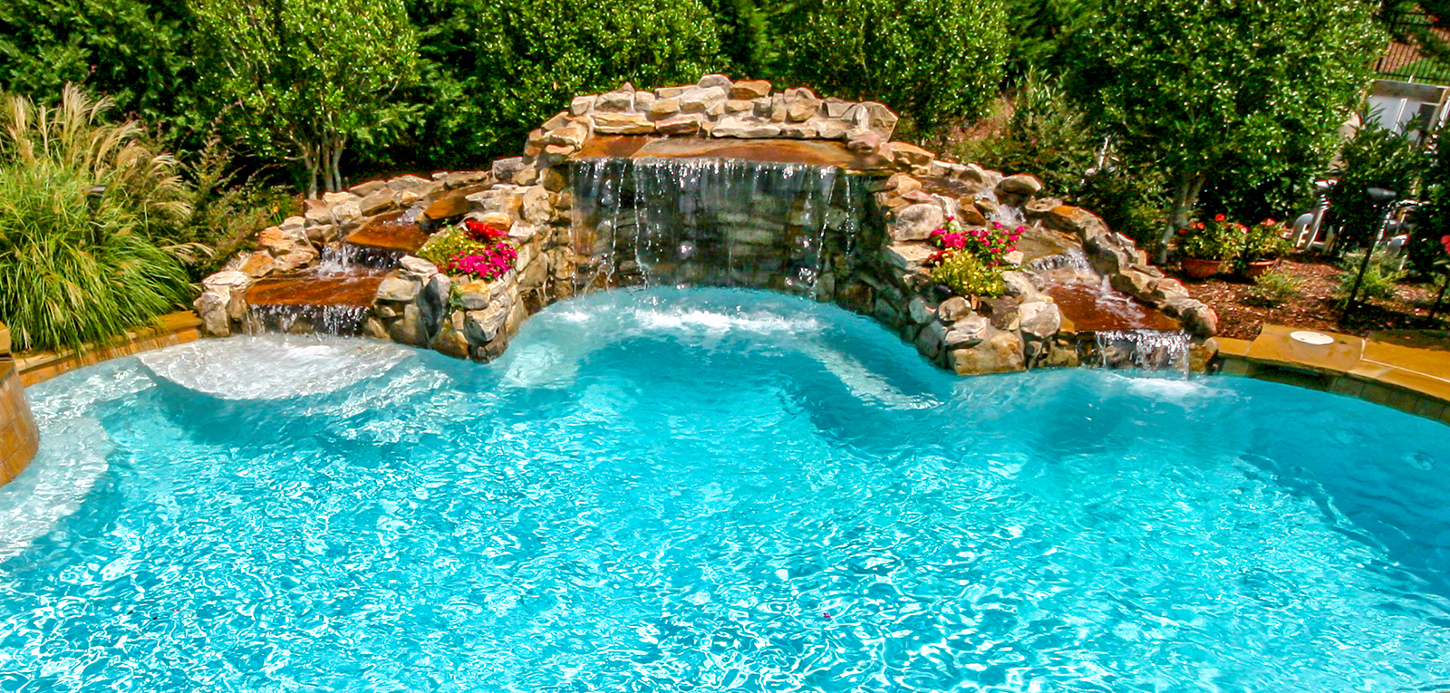Swimming Pool Rock Waterfall Pictures | Blue Haven
