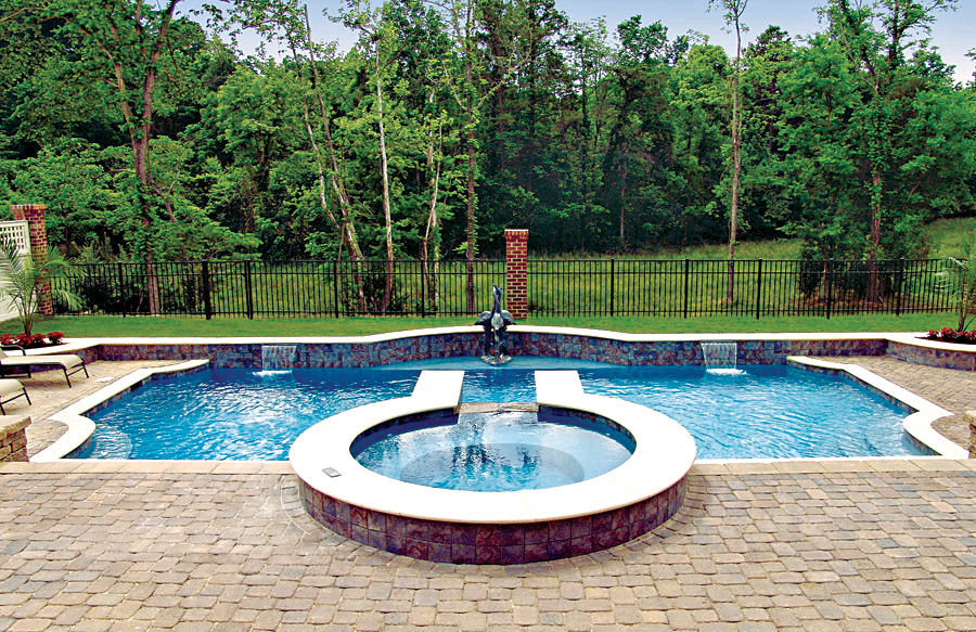 Roman grecian pools blue haven custom swimming pool for Affordable pools and supplies