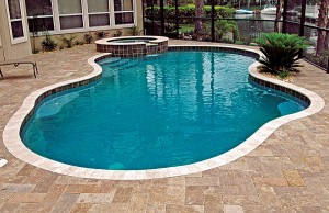 Free form swimming pool and spa
