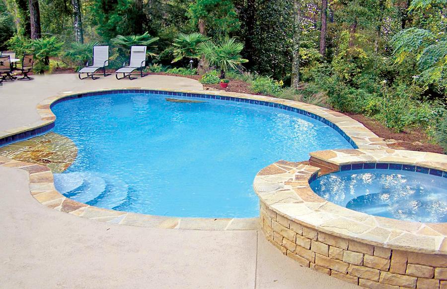 Lounge Tanning Ledges Blue Haven Custom Swimming Pool