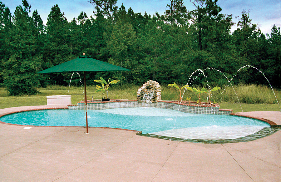LoungeTanning Ledges Blue Haven Custom Swimming Pool