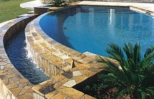 vanishing edge pool with waterfall steps