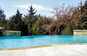 vanishing edge pool with spa